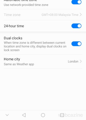 dual clocks