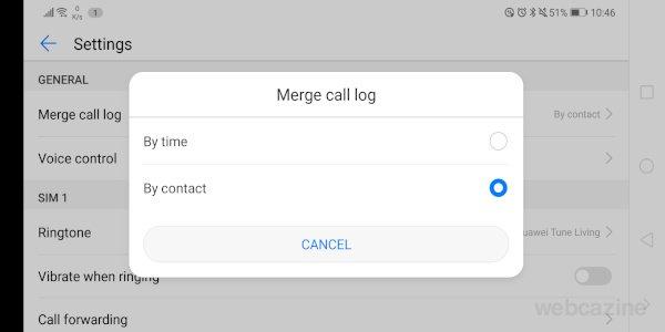 merge call log