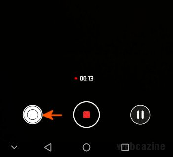shutter button video recording