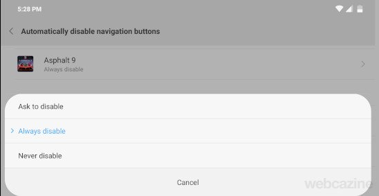 automatically disable navigation buttons