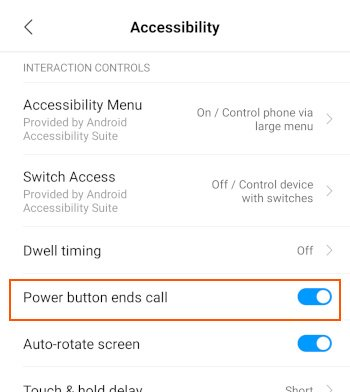PocoF1 Power Button Ends_Call
