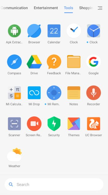 PocoF1 categorize apps