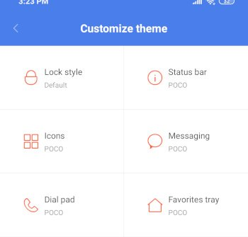 PocoF1 customize theme