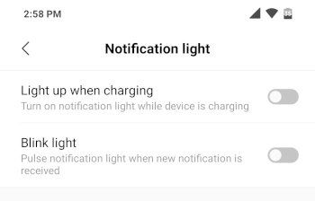 PocoF1 notification light