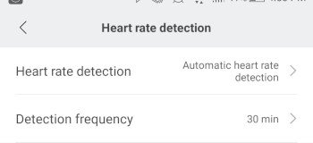 automatic heart rate detection