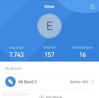 band battery level