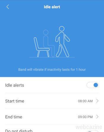 idle alert