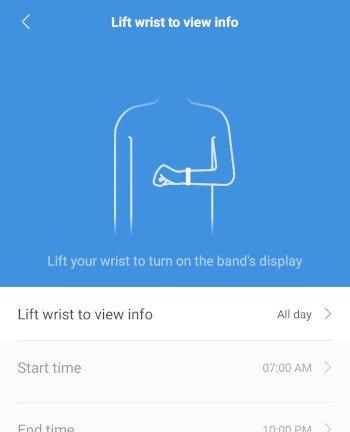 lift wrist to view info