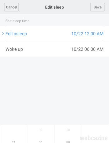 manual sleep log