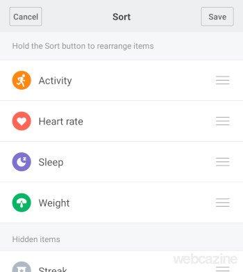 personalize status screen
