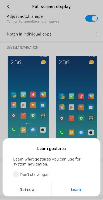 Mi9 Full Screen Gestures