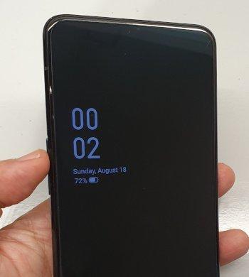 OppoReno Off Screen Clock