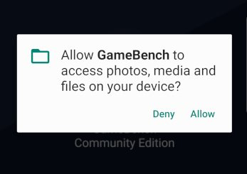 Allow permissions for gamebench