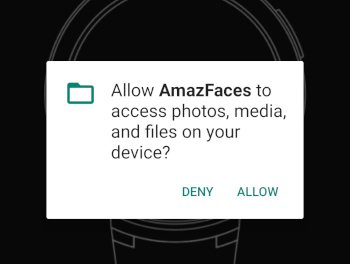 AmazFaces permission prompt