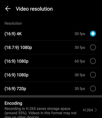 HonorPlay 4K Video Recording