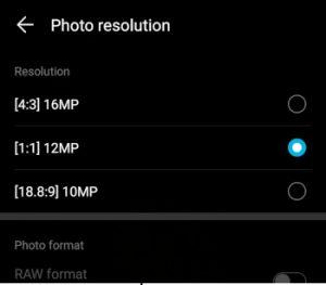 HonorPlay PhotoResolution
